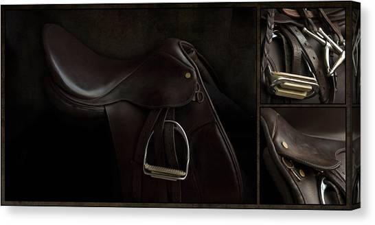 Saddle Triptych Canvas Print