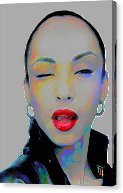 Red Eye Canvas Print - Sade 3 by Fli Art