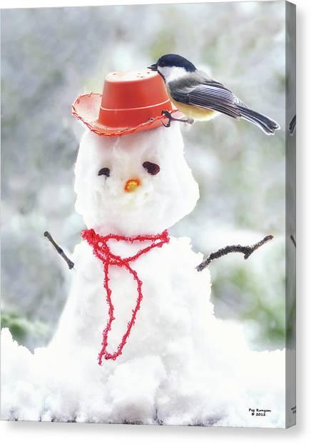 Sadies Snowman Canvas Print