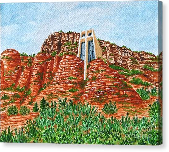 Sadona Church Canvas Print
