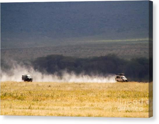 Safari Dust Canvas Print by Chris Scroggins
