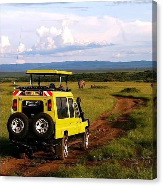 Kenyan Canvas Print - Safari Tour Brrrrr #safari #safaritour by Miori Bando