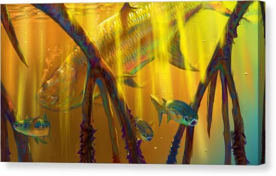 Fish Tanks Canvas Print - Safe Place  by Yusniel Santos