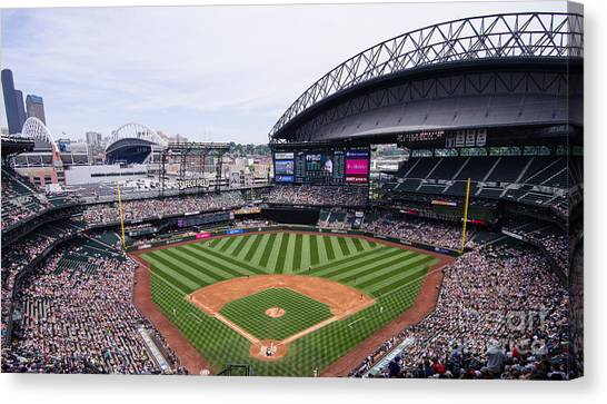 Seattle Mariners Canvas Print - Safeco Field 1 by Tracy Knauer