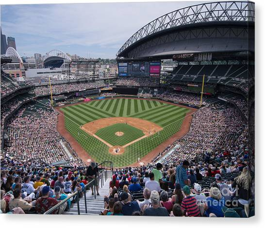 Seattle Mariners Canvas Print - Safeco Field 2 by Tracy Knauer