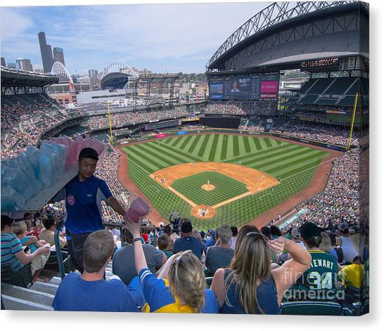 Seattle Mariners Canvas Print - Safeco Field 3 by Tracy Knauer