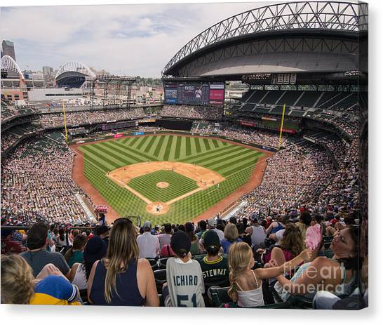 Seattle Mariners Canvas Print - Safeco Field 4 by Tracy Knauer