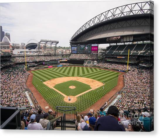 Seattle Mariners Canvas Print - Safeco Field 5 by Tracy Knauer