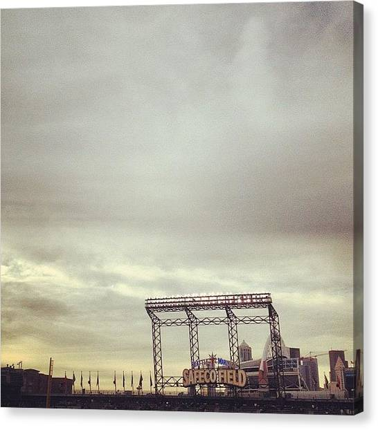 Seattle Mariners Canvas Print - Safeco by Terrence Jeffrey Santos