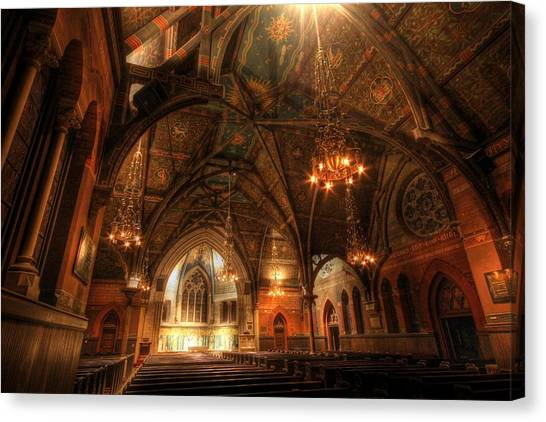 Cornell University Canvas Print - Sage Chapel - Cornell by Georgia Fowler