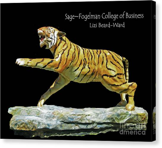 University Of Memphis Canvas Print - Sage Tiger  University Of Memphis by Lizi Beard-Ward