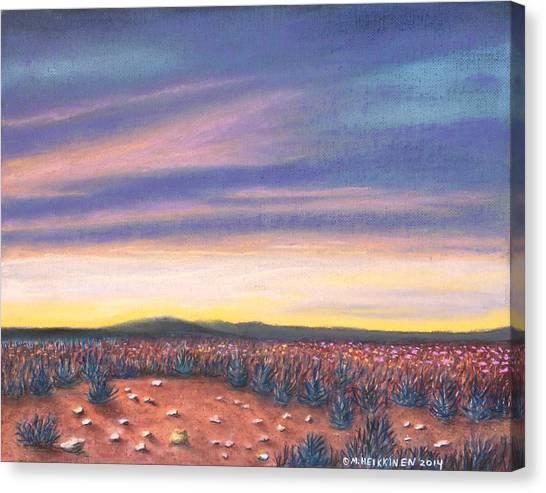 Sagebrush Sunset C Canvas Print