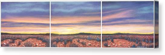 Sagebrush Sunset Triptych Canvas Print