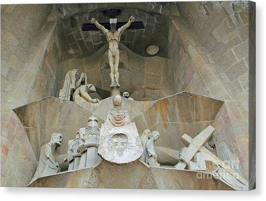 Sagrada Familia Crucifixion Canvas Print