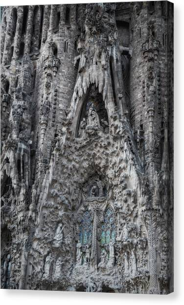 Portal Canvas Print - Sagrada Familia Nativity Facade by Joan Carroll
