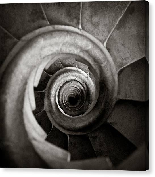 Spiral Canvas Print - Sagrada Familia Steps by Dave Bowman