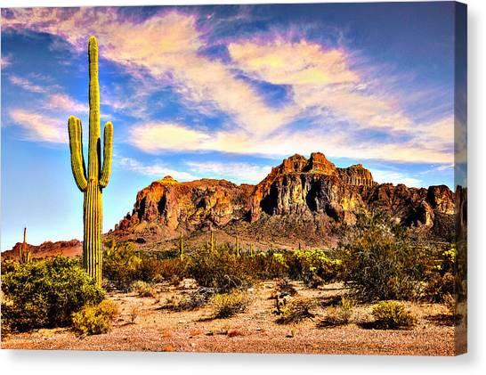 Saguaro Superstition Mountains Arizona Canvas Print