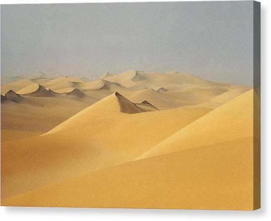 Sandy Desert Canvas Print - Sahara Desert, Algeria by Betsy Blass