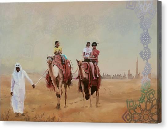 Dubai Skyline Canvas Print - Saharan Culture  by Corporate Art Task Force