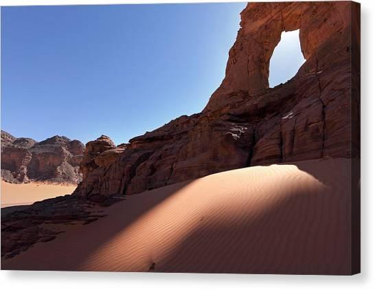 Sahara Desert Canvas Print - Saharan Rock Formations by Martin Rietze
