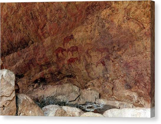 Sahara Desert Canvas Print - Saharan Rock Painting by Martin Rietze