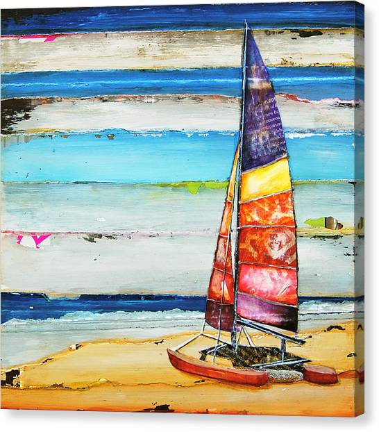 Summer Vacation Canvas Print - Sail Away by Danny Phillips