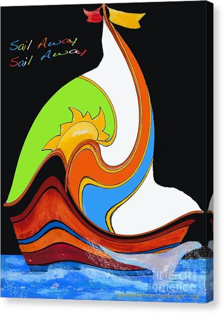 Sail Away Sail Away   Dreams Canvas Print