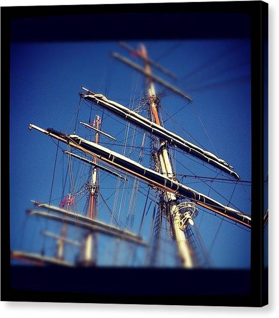 Liquids Canvas Print - Sail Boat by Armando Costantino
