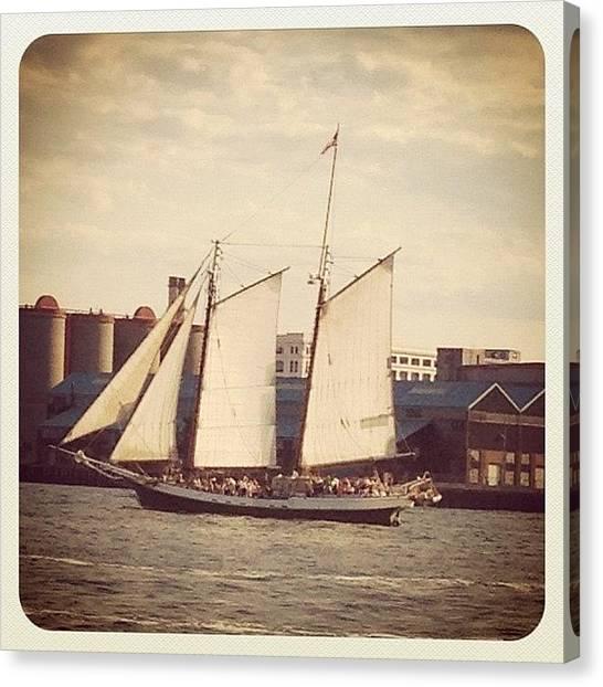 Baseball Teams Canvas Print - Sail Boat by Micah Watson