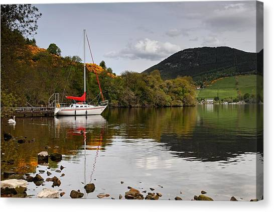 Sail Boat On Loch Ness Canvas Print