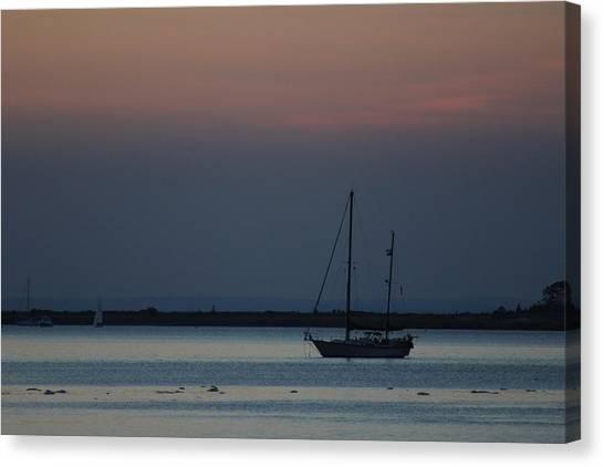Sail Boat Port Jefferson New York Canvas Print