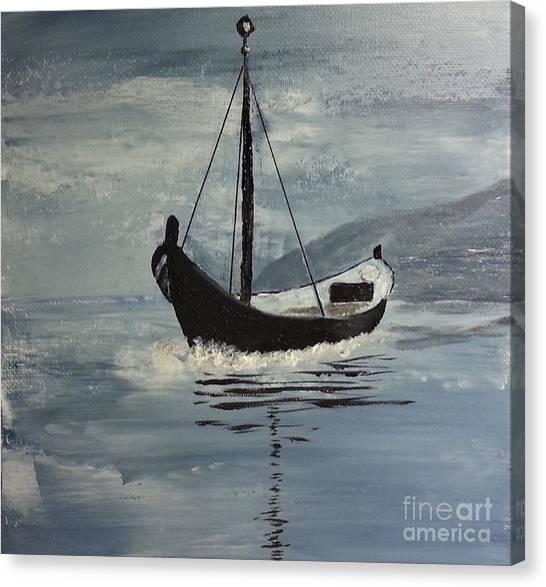 Sail-boat Canvas Print