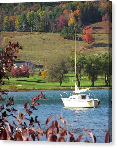 Autumn Leaves Canvas Print - Sail by Meagan Johnson