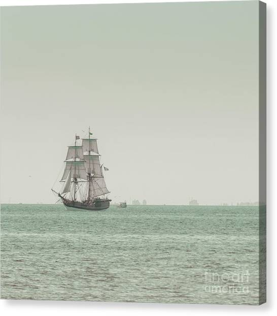 Boat Canvas Print - Sail Ship 1 by Lucid Mood