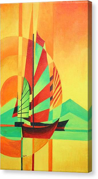 Sail To Shore Canvas Print