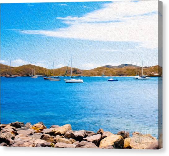 Sailboat Adventure In San Juan Puerto Rico Canvas Print