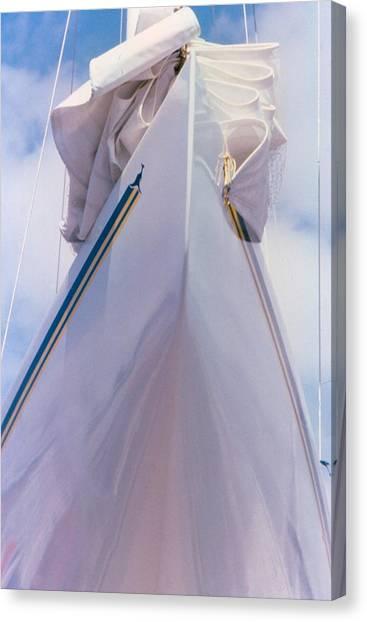 Sailboat Bow Canvas Print