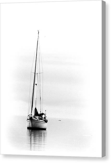 Sailboat Bw Too Canvas Print
