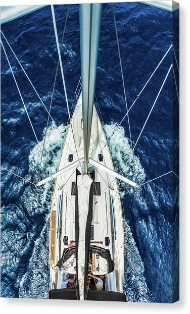 Sailboat From Above Canvas Print