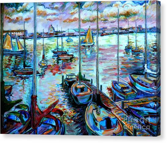 Sailboat Harbor Canvas Print