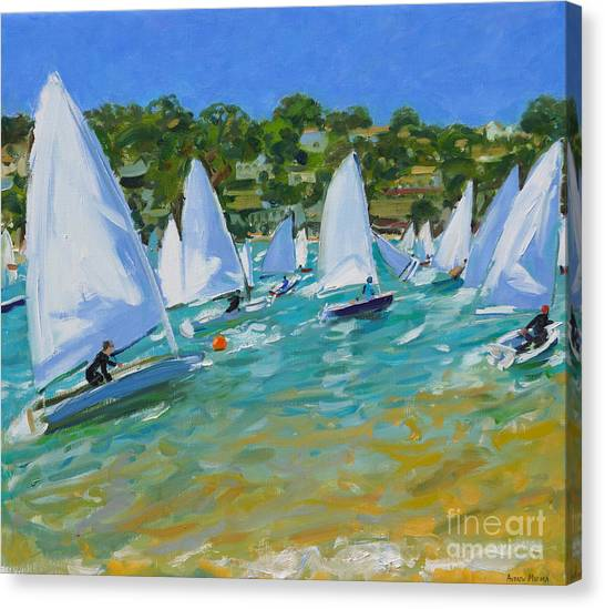 Sailing Race Canvas Print - Sailboat Race by Andrew Macara