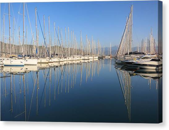 Sailboat Reflections Canvas Print