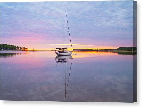 Sailboat Sunrise Canvas Print
