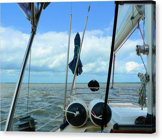 Sailboat View Horizontal Canvas Print