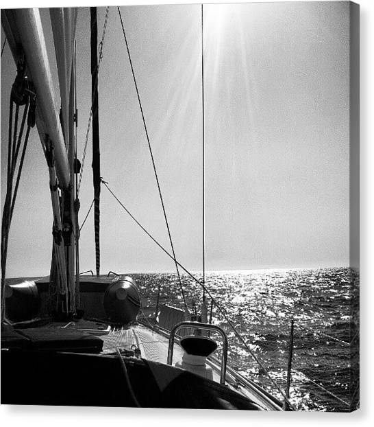 Sailboats Canvas Print - Sailboat2 by Ernesto Cinquepalmi
