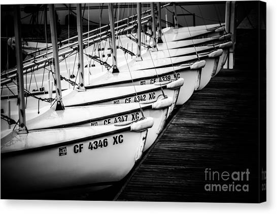 Newport Canvas Print - Sailboats In Newport Beach California Picture by Paul Velgos