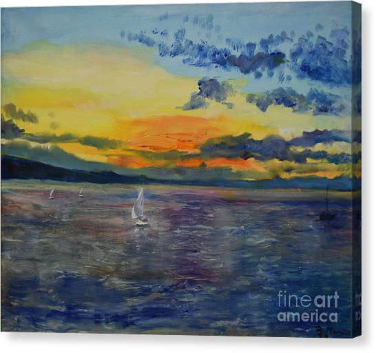 Sailboats Near Stockholm Canvas Print