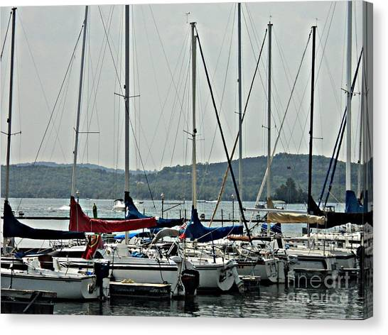 Sailboats Canvas Print by Pics by Jody Adams