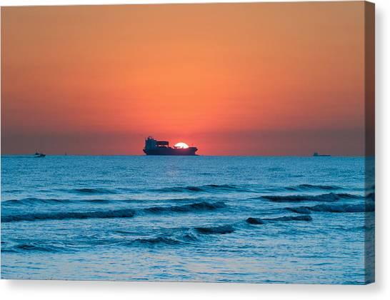 Sailing Across The Sun Canvas Print