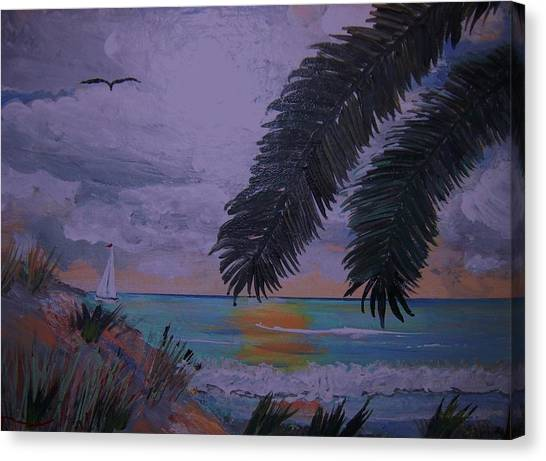 Sailing Along The Shore Canvas Print by David Earl Tucker